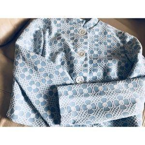 Jackets & Blazers - Vtg Boho Chic Daisy Anthropologie Styl Blue Jacket